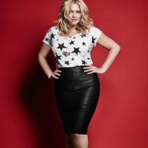 Torrid | Rebel Wilson Faux Leather Midi Skirt 3X